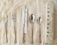 New listing Yamazaki Toffolon Cordagio Ice Stainless Place Setting Knife Forks Spoons Japan