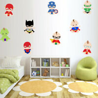 Baby Superhero Vinyl Wall Decal Avengers Batman Superman Wall Sticker Home Decor
