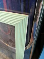 MID-CENTURY MODERN WOOD PICTURE FRAME TURQUOISE MINT GREEN 20X16 18.5X22.5 VTG