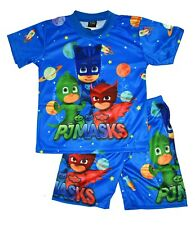 NEW SZ 5-10 PJ MASK CATBOY NIGHTIE GIFT BOYS PYJAMAS PJ KIDS SUMMER SLEEPWEAR