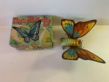 RARE VINTAGE KANTO TOYS WIND UP FLAPPING WINGS BUTTERFLY TIN LITHO JAPAN W/ BOX