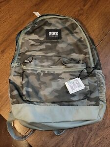 VICTORIA'S SECRET PINK CAMPUS BACKPACK CAMO PRINT GREEN New NWT Camouflage
