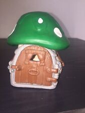 Smurfs Green Mushroom House 40012 Smurf Vintage Playset Farm Cottage Toy Peyo