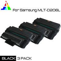 3 Pack Compatible MLT-D206L Black Toner Cartridge For Samsung SCX-5935FN 5935