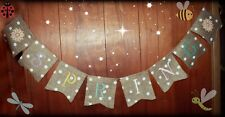 ~EASTER SPRING ~ Burlap Banner/Garland ~ SPRING Holiday Decoration PHOTO PROP