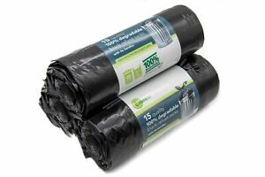 Evaness 100% Degradable strong black bin bags 90L capacity (45 bags)