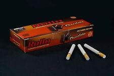 500 NEW CHOCOLATE FLAVORED ROLLO TUBE Cigarette Tobacco Rolling Roller Filter