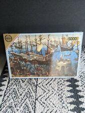 Vintage supreme De-Luxe Falcon Jigsaw 5000 Piece 'the embarkment of Henry VIII