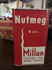 Millars Spice Tin 4 Oz Nutmeg Chicago Denver Vintage