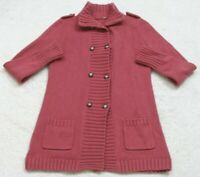 Unbranded Polo Sweater Size Small Cardigan Red Women's Long Sleeve Top Cotton