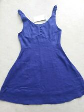 Linen Purple Swing Dress Rockabilly 50s Pin Up 14 BNWT