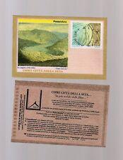 foglietto francobolli franco busta industria della seta  2001 -