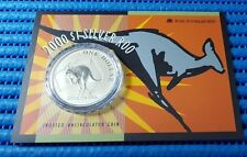 2000 Australia $1 Silver Roo Frosted Uncirculated Coin