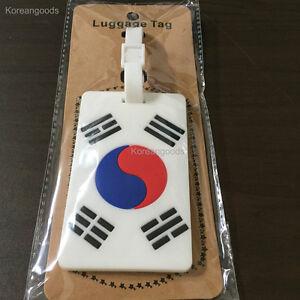 Taegeuk Travel Luggage Bag Tag Name Address Label Korean flag Baggage Tags 태극기
