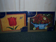 """PIMPERNEL *  ACRYLIC AND CORK  PLACE MATS """"NEW CONDITION"""" 4 IN EACH PACK"""