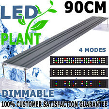Aquarium Fish Tank Plant Growth 4 Mode Dimmable LED Light 3FT Aqua Lighting