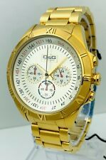 D&G Men's Chronograph DW0432 Gold Stainless-Steel Quartz Watch with Silver Dial