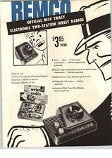 1955 PAPER AD Remco Toy Dick Tracy Wrist Radio Mobile Loudspeaker Truck