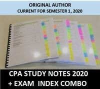 CPA  E&G - Ethics and Governance HD study notes + Exam Index COMBO 2020