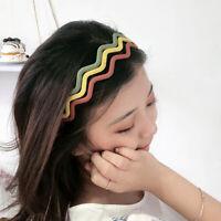 Unisex Candy Headband Wavy Hair Head Hoop Band Sport Hairband Accessories