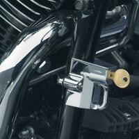 7/8'' 1'' Universal Bikers Choice Handlebars Motorcycle Helmet Lock Chrome
