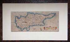 Original Antique Abraham Ortelius Map Of Cyprus 1584, Theatrum Orbis