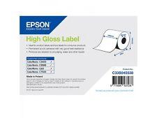 Epson Rouleau d'étiquettes c33s045538 papier ordinaire 102mm x 33m brillante