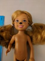 """Barbie Little Sister Chelsea 5.5"""" Doll, Painted Animal Nose & Whiskers, Nude"""