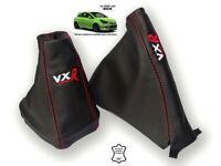 "Gear & Handbrake Gaiter For Vauxhall Corsa D 06-14 Red Stitching ""VXR"" Logo"