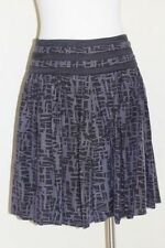 Cotton Blend Pleated Knee-Length Skirts for Women