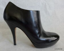 VIA SPIGA (Designed ITALY) Black All Leather ankle Booties SHERI 6.5M