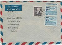czechoslovakia 1950s airmail stamps cover ref 19671