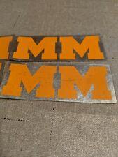 MINNEAPOLIS MOLINE Tractor NOS equipment  logo Sticker Emblem Lot of 4