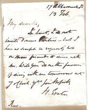 Henry Phillpotts [1778-1869] - Bishop of Exeter - ALS: no dinner parties in Lent