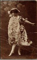 Young Dancing Lady 1900 #52 Vintage Postcard AA-005