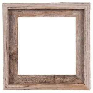"""10x10–2"""" Wide Signature Reclaimed Rustic Barn Wood Open Frame No Glass or Back"""