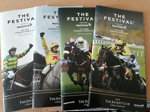 R/Cards, 2021 Chelt.Festival, all Four Days, Gold Cup Signed