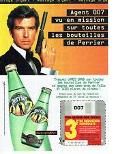 Publicité Advertising 018  1995  Perrier eau minérale James Bond 007 Golden Eye