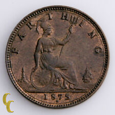 1875-H Great Britain Farthing Coin in UNC, KM# 753
