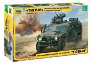 """Zvezda 3683 """"Tiger-M"""" Russian Armored Vehicle with """"Arbalet"""" 1/35 Scale."""