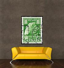 POSTER PRINT GIANT POSTAGE STAMP DENMARK VINTAGE JELLING RUNIC STONE PAMP062