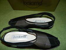 PALOMA MADE IN ITALY ARUBA BLACK SUEDE/MESH  EUC WITH BOX