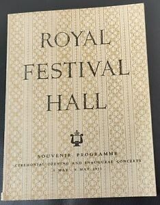 1951 Royal Festival Hall Opening & Inaugural Concerts Prog Festival of Britain