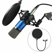 New Double Layer Studio Recording Microphone Wind Screen Mask Pop Filter Shield