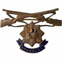 Original WW1 Cheshire Regiment Sweetheart Brooch Badge - XE40