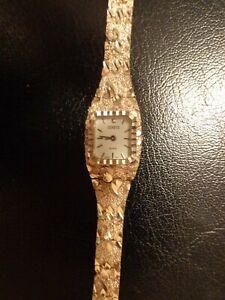 Geneve ladies Solid 925 silver nugget watch