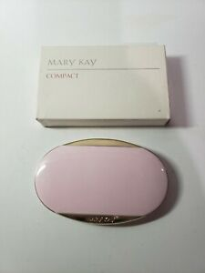 Mary Kay Pink Oval Foundation Mirror Compact Discontinued New in Box