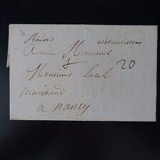 1710 LETTRE COVER ROUEN / ÉCHANTILLONS MANUSCRIT + PORT 20 (TRÈS ÉLEVÉ) -> REIMS