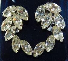 Brillante Color Plata Blanco Diamante Imitacion Pendientes de Clip 1G 40