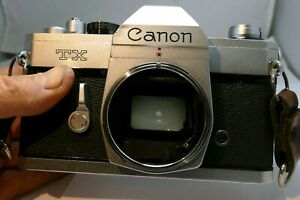 Canon TX 35mm SLR Film Camera Body Only - (problem with light meter)